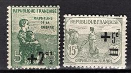 FRANCE 1922 / 1926 -  Y.T. N° 163 / 164 - NEUFS** - France