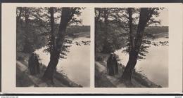 LITHUANIA LITUANIE LITAUEN Old Stereo Photo Card River Nemunas Near Balbieriskis (Alytus District) #12478 - Lithuania