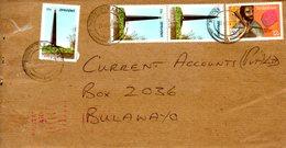 ZIMBABWE. N°68 De 1984 +  N°105 De 1985 Sur Enveloppe Ayant Circulé. Monument/Archives. - Zimbabwe (1980-...)