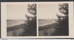 LITHUANIA LITUANIE LITAUEN Old Stereo Photo Card Rambynas Mountain River Nemunas Tilze Memel #12480 - Lithuania