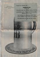Gaststätten Camphausen Berlin Menü Menu - 07 September 1930 - 8 Seiten - 32 Cm X 22 Cm - Menükarten