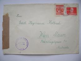 Cover OSIJEK To Vienna Wien Austria 1947 - Österreichische Zensurstelle(censored), Stamp Jajce 3 D.,  Marshal Tito 2 D. - Covers & Documents