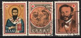 GRECIA - 1959 - CENTENARIO DELLA CROCE ROSSA - USATI - Grecia