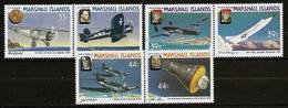 MARSHALL ISLANDS 1987 - HISTORY Of AVIATION - 3 Pairs Mi 113-118 MNH ** Cv€6,50 V326 - Marshall Islands
