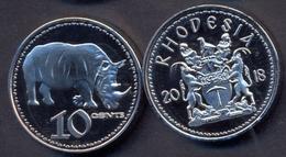 Rhodesia 10 Cent 2018 UNC < Animals > - Rhodésie