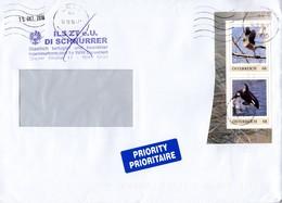 Geschäfts - Brief Von 8000 Graz Mit 2 X 68 Cent PM Tiere Taube + Orka 2018 - 1945-.... 2. Republik