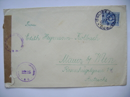 Cover OSIJEK To Vienna Wien Austria 1948 - Österreichische Zensurstelle(censored), Stamp Coat Of Arms 5 D. - Covers & Documents