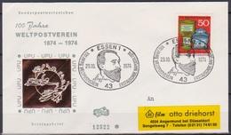 BRD FDC 1974 Nr.825 100 Jahre Weltpostverein ( D 1507 ) Günstige Versandkosten - FDC: Buste
