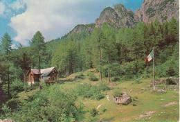 TARVISIO - RIFUGIO ZACCHI NELLA ZONA DEI LAGHI DI FUSINE - BANDIERA ITALIANA - VIAGGIATA 1982 - Andere Städte