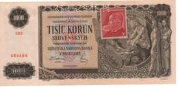 CZECHOSLOVAKIA  1'000  Korun    P56s  (1945) UNC - Tchéquie