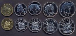 Rhodesia Coins Set 1-50 Cent 2018 UNC < Animals > (5 Coins) - Rhodesia