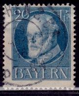 Germany - Bavaria 1914-20, King Ludwig III, 20pf, Sc#102, Used - Bavaria