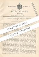 Original Patent - Charles Humfrey , Northwich , England , 1898 , Gaserzeuger   Gas , Brenner , Gase   Luft , Beleuchtung - Historische Documenten
