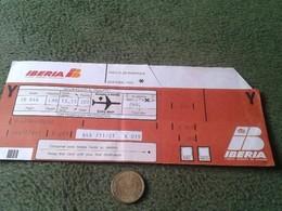 SPAIN. ENTRADA OLD TICKET TICKETS BIGLIETTO BIGLIETTI BILLETE IBERIA LINEAS AÉREAS AÑOS 70 80 ? FUMADOR AIR LINES - Tickets - Entradas
