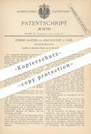 Original Patent - Etienne Lagosse , Jean Bouché , Paris , Frankreich , 1885 , Gliederkessel | Kessel , Dampfkessel !!! - Historical Documents