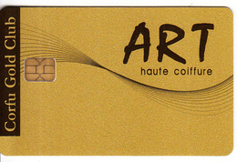 GREECE - Corfu Gold Club, ART Coiffure, Member Card, Unused - Autres Collections
