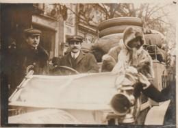 Photo Du Grand Reporter LOUIS MAURICE BRANGER Départ Course Paris New YORK 1910 - Automobiles