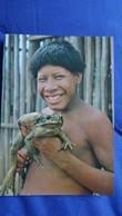 CPSM  BRASIL NATIVO BRESIL RESERVE INDIGENE INDIENS D AMAZONIE DE XINGU FROG GRENOUILLE - Zonder Classificatie