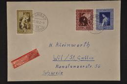 1952 250-252 Satzbrief - Cartas