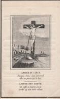 Franciscus Guillielmus Van Puttegem-st.petersrode Bij Leuven 1775-esschen 1851-scheef Gedrukt ? - Devotion Images