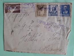 20085# ESPAGNE LETTRE CORRESPONDENCIA URGENTE CENSURE CENSURADA LERIDA Pour JALLIEU ISERE 1939 ESPANA - 1931-50 Briefe U. Dokumente