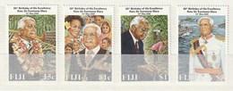 Fiji - 2000 The 80th Anniversary Of The Birth Of President Ratu Sir Kamisese Mara 4v Mint - Fiji (1970-...)