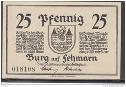 GERMANY Local Banknote Burg Auf Fehmarn 25 Pfennig FV #13381 - [11] Emisiones Locales