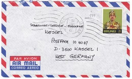 #8910 Brunei 1983 Cover Air Mail Mailed: Sultan Sir Mulda Waddaulah - Brunei (1984-...)