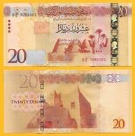 Libya 20 Dinars P-83 2016 UNC - Libya