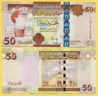 Libya 50 Dinars P-75 2008 UNC - Libya