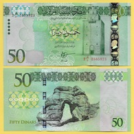 Libya 50 Dinars P-84 2016 UNC - Libya