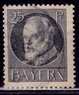 Germany - Bavaria 1914-20, King Ludwig III, 25pf, Sc#103, Used - Bavaria
