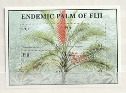 Fiji - 2000 Alsmithia Longpipes, Endemic Palm Of Fiji 4v M/s Mint - Fiji (1970-...)