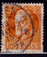 Germany - Bavaria 1914-20, King Ludwig III, 30pf, Sc#104, Used - Bayern