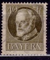 Germany - Bavaria 1914-20, King Ludwig III, 40pf, Sc#105, Used - Bavaria