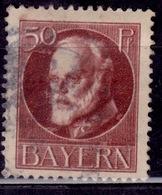 Germany - Bavaria 1914-20, King Ludwig III, 50pf, Sc#106, Used - Bavaria