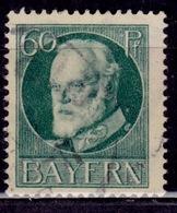 Germany - Bavaria 1914-20, King Ludwig III, 60pf, Sc#107, Used - Bavaria