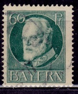 Germany - Bavaria 1914-20, King Ludwig III, 60pf, Sc#107, Used - Beieren