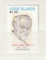 Cook Islands 2005 Pope Memoriam (1) UM - Cook Islands
