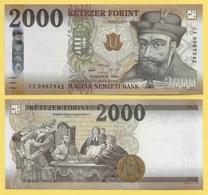 Hungary 2000 Forint P-204 2016 UNC - Hongrie