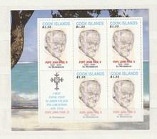 Cook Islands 2005 Pope Memoriam (5) MS UM - Cook Islands