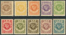 Klaipeda (Memel) 1923. Michel #141/150 MNH/Luxe. Emblem. Rider. (B13) - Stamps