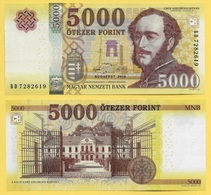 Hungary 5000 Forint P-205 2016 UNC - Hongrie
