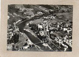 CPSM Dentelée - AUREC-sur-LOIRE (43) - Vue Aérienne Du Quartier Des Usines Et Du Pont Suspendu En 1976 - Other Municipalities