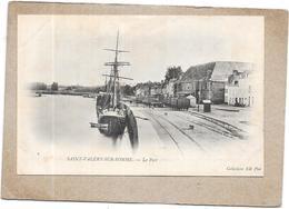 SAINT VALERY SUR SOMME - 80 - CPA DOS SIMPLE - Le Port  - DELC5** -- - Saint Valery Sur Somme