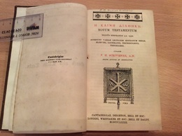 F H Schrivener - Cambridge Greek And Latin Texts - Novum Testamentum - 1872 - Livres, BD, Revues