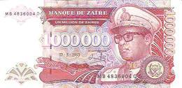 Zaire  P-45b  1000000 Zaires  1993  UNC - Zaïre