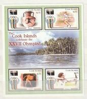 Cook Islands 1237 S/SOlympicsNH - Cook Islands