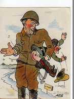SARI Militaire Donnant La Fessee A Hitler - Other Illustrators