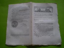 Lois An VIII: Installation Des Préfectures,sous Préfectures;costume Des Préfets(tableaux)...Colonne Place De La Concorde - Decrees & Laws